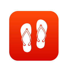 Slates icon digital red vector