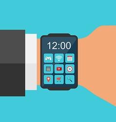 Smart Watch Concept Flat design vector image
