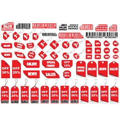 Set of shopping tags and stickers vector