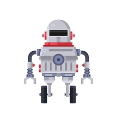 Fiction robot on white background vector