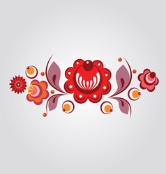 Floral russian style element vector