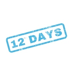 12 days text rubber stamp vector