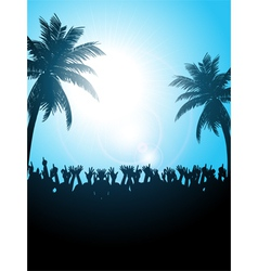 Summer festival with palm trees vector image