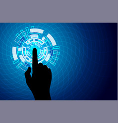Blue touch future technology internet security vector