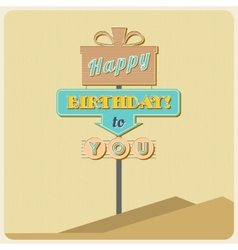 Birthday greetings sign vector image
