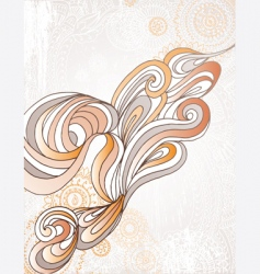 organic swirl vector image