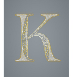 Abstract golden letter k vector