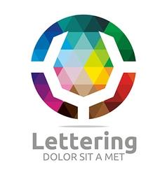 Abstract Logo Lettering V Rainbow Alphabet Design vector image
