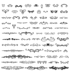 Set of vintage sketch elements vector