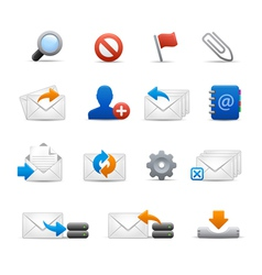 e-mail Icons - Set 3 of 3 - Soft Series vector image