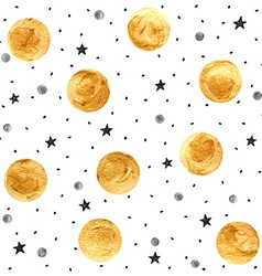 Golden spots background vector