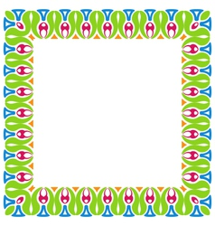 Abstract Colorful Ornamental Border Isolated on vector image vector image