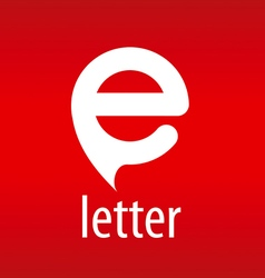 Abstract logo letter E on a red background vector image vector image
