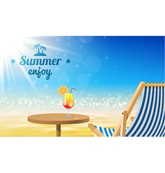 Beach sunny background- Design vector image