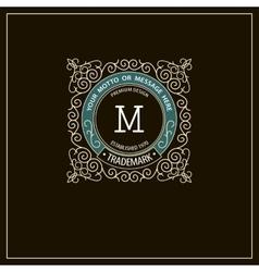 Beautiful calligraphic monogram emblem template vector