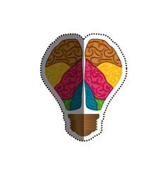 bulb idea and human brain vector image vector image