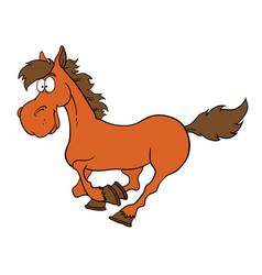 cartoon farm animals cute horse smileseps 10 vector image vector image