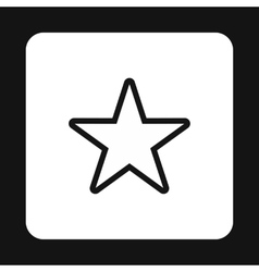 Celestial star icon simple style vector
