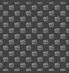 Clapperboard seamless pattern vintage handdrawn vector