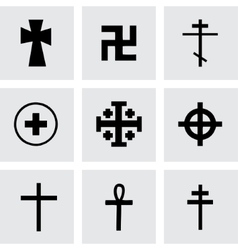 Crosses icons set vector