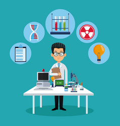 Doctor medical chemistry workspace vector