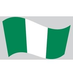 Flag of Nigeria waving vector image