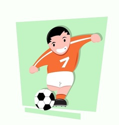 funny little kids play soccer vector image
