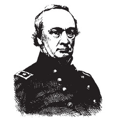 General henry w halleck vintage vector