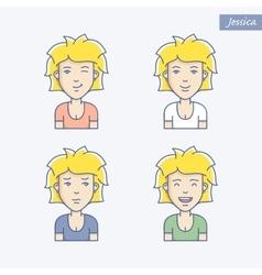 Girl avatars vector