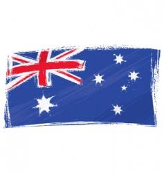 Grunge australia flag vector