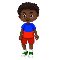 Haiti boy with happy face vector