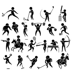 Icons for different kind of sports vector image