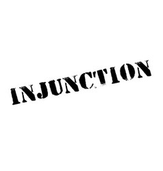 Injunction typographic stamp vector