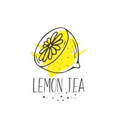 Lemon tea print vector
