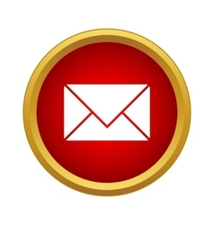 Mail icon simple style vector image