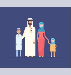 Muslim family - modern flat design style vector