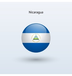 Nicaragua round flag vector image