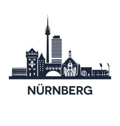 Nuremberg Skyline Emblem vector image