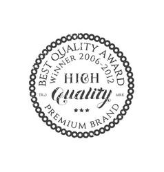 retro grey typography round emblem vector image