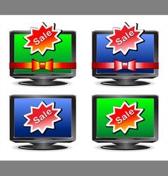 Sale tv set vector