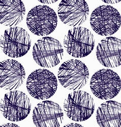 Scribbled blue circles vector