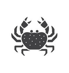 Sea crab line icon vector