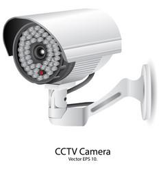 Security camera cctv eps 10 vector