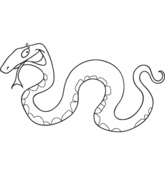 snake for coloring book vector image