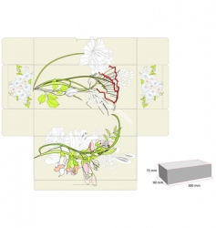 template for box vector image vector image