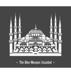 The Blue Mosque Istanbul vector image vector image