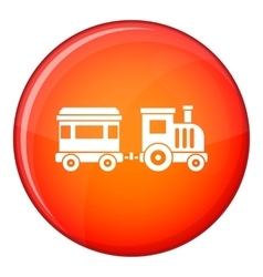 Toy train icon flat style vector