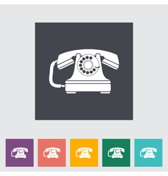 Vinage phone vector