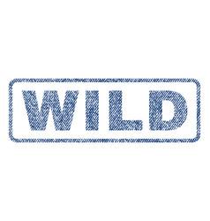 Wild textile stamp vector