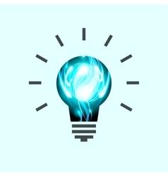 Light Bulb Pictogram Lamp Icon vector image